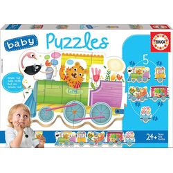 Educa Puzzle. Baby Puzzles Animal Train 2x2/2x3/4Teile