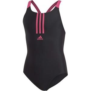 adidas Mädchen YG FIT Swimsuit, Black/Real Magenta, 5-6Y