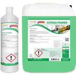 CITRUS POWER Handspülmittel, Hautfreundliches, neutrales, tensidhaltiges Geschirrspülmittel, 10 Liter - Kanister