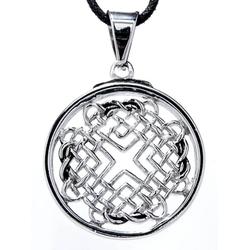 Kiss of Leather Kettenanhänger Keltischer Knoten Edelstahl Anhänger Kelten keltisch