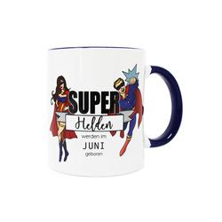 Close Up Tasse Superhelden Tasse Superhelden werden im Juni gebo