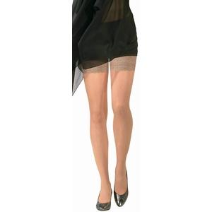 BAHNER Stützstrümpfe Damen halterlose transparent, Strumpfhose, Spitzenstrümpfe, Strümpfen 70 DEN, Schwarz