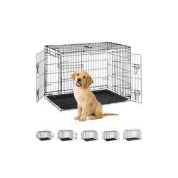 relaxdays Hundekäfig Hundekäfig für Zuhause 92 cm x 60.5 cm x 67.5 cm