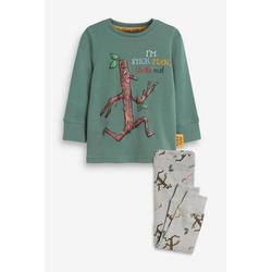 Next Pyjama Kuschel-Pyjama (2 tlg) Long Set grün 86-92