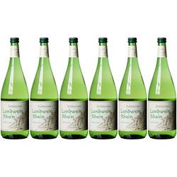 Rebknorze Pfälzer Landwein Weißwein Halbtrocken 1000ml 6er Pack