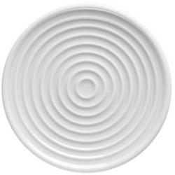 Teller/Deckel ONO, Rillen-Dekor, Durchm. 11 cm, von thomas. Aus weißem