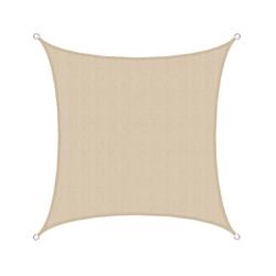 AMANKA Seilspannsonnensegel Sonnensegel Thar Ivory M 3x3m HDPE, Überdachung Garten 3x3m