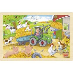 goki Einlegepuzzle Kleiner Traktor