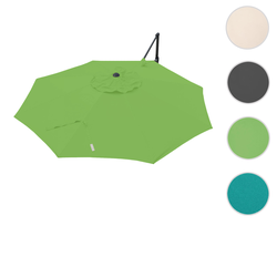 Bezug für Ampelschirm HWC-A39, Sonnenschirmbezug Ersatzbezug, Ø 3,5m Polyester 250g/m² ~ grün