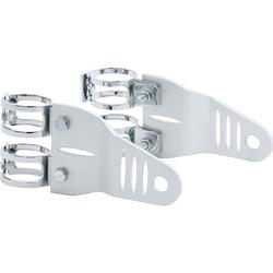 P&W Lampenhalter Alu silber für 35-38 mm Gabel