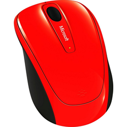 Microsoft Wireless Mobile Mouse 3500 Flame Red Maus (RF Wireless)