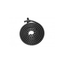 DIGITUS Flexibler Kabelspiralschlauch mit Einzugshilfe 5 m Schwarz (DA-90508)