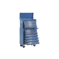 HOMCOM Werkstattwagen Fahrbarer Werkstattwagen mit 16 Schubladen blau