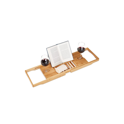 relaxdays Badewannentablett Badewannentablett ausziehbar bis 105 cm