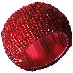 Bestlivings Serviettenring, Glasperlen, (1-tlg), Serviettenring, Handarbeit, Glasperlenring rot
