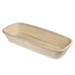 KÜCHENPROFI Gärkörbchen Gärkorb Brotform aus Peddigrohr eckig 40 cm Brotkorb