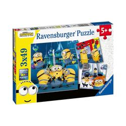 Ravensburger Puzzle Puzzle Minions 2, 3 x 49 Teile, Puzzleteile