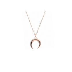 Smart Jewel Kette mit Anhänger Halbmond, Silber 925 rosa