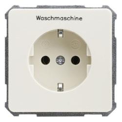 ELSO 205120, Steckdose bedruck Waschmaschine 16A FASHION/RIVA/SCALA Steckklemme perlweiß