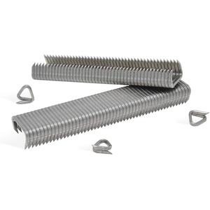 REGUR OK 24 D-Drahtringe V2A Edelstahl - 1.000 Stück zur Befestigung von Gabionen, Drahtrittern, Drahtkörben u.v.m.