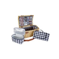 MCW Picknickkorb MCW-B23, Kühltasche und Picknickdecke mit Tragegriff