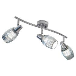 Nori - LED Spot 3-flammig - chromfarbend - Effektglas chrom