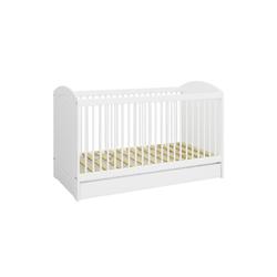 ebuy24 Kinderbett Kids Kinderbett mit Schublade inkl. Lamellen, weiß