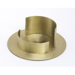Taufkerzenhalter Messing gold matt, für Ø 6 cm Taufkerzen