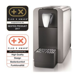 Cremesso Compact One II - Kaffee- und Tee-Kapselmaschine, silber