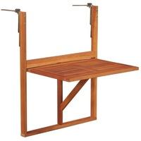 vidaXL Balkonhängetisch 64,5 x 44 x 80 cm braun klappbar