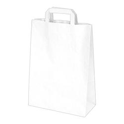 GASTRO Papiertragetaschen 32 x 26 x 14 cm mit EAN-Code weiss,  50 Stk.