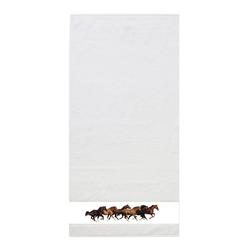 framsohn Handtuch 'Pferde' 50 x 100 cm Weiß
