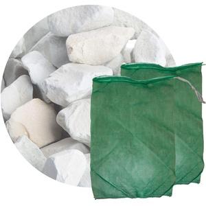 Schicker Mineral Zeolith Filterset (10 kg Zeolith und 2 Filtersäcke) Gartenteich, ideal geeignet als Wasseraufbereiter für Gartenteich und Aquarium (16,0-32,0 mm)