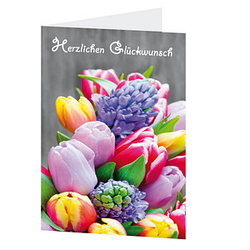 LUMA Glückwunschkarte Blumenstrauß DIN B6