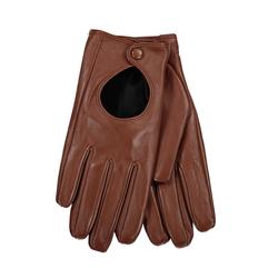 Lavard Braune Handschuhe aus Leder 84052  S