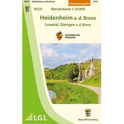 Heidenheim a.d.Brenz - Lonetal Giengen a.d.Brenz Wanderkarte 1:25.000
