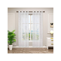 Gardine, Woltu, 2er-Set Gardinen transparent mit Ösen 140 cm x 225 cm