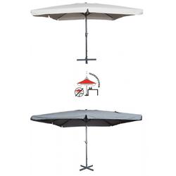 Mandalika Garden MERCATO XXL Sonnenschirm 400x400cm Gastronomie geeignet grau