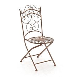CLP Gartenstuhl Indra handgefertigter Gartenstuhl aus Eisen braun