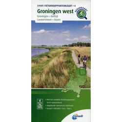 Groningen west (Groningen / Delfzijl / Lauwersmeer / Assen) 1 : 100 000