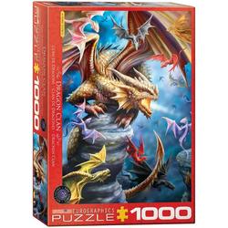 empireposter Puzzle Anne Stokes - Der Drachenclan - 1000 Teile Puzzle im Format 68x48 cm, 1000 Puzzleteile