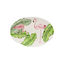 KARE Speiseteller Teller Flamingo Holidays Oval 40cm