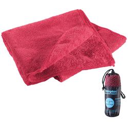 Mikrofaser-Handtuch, 2 versch. Oberflächen, 80 x 40 cm, rot