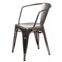Krzesło Tolader Arms w kolorze metalu