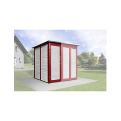 WEKA, Gerätehaus, B x T: 224 x 71 cm rot