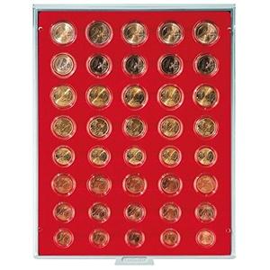 Münzbox Standard für 5 Euro-Kursmünzensätze in LINDNER Münzkapseln