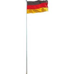 Fahnenmast inkl. Deutschlandfahne, Mast + Flagge Fahnenstange, 6,20m/6,50m