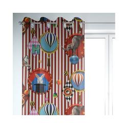 Vorhang SCHÖNER LEBEN. Vorhang Kirmes Zirkus ecru bunt 245cm oder Wunschlänge, SCHÖNER LEBEN., Ösen (1 Stück)