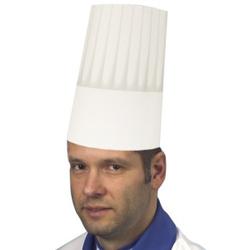 Papstar Burgund Kochmütze, größenverstellbar, Material: Krepp-Papier, weiss, 1 Packung = 25 Kochmützen