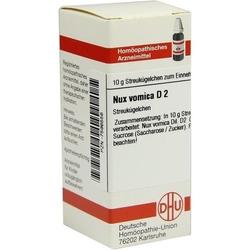 NUX VOMICA D 2 Globuli 10 g